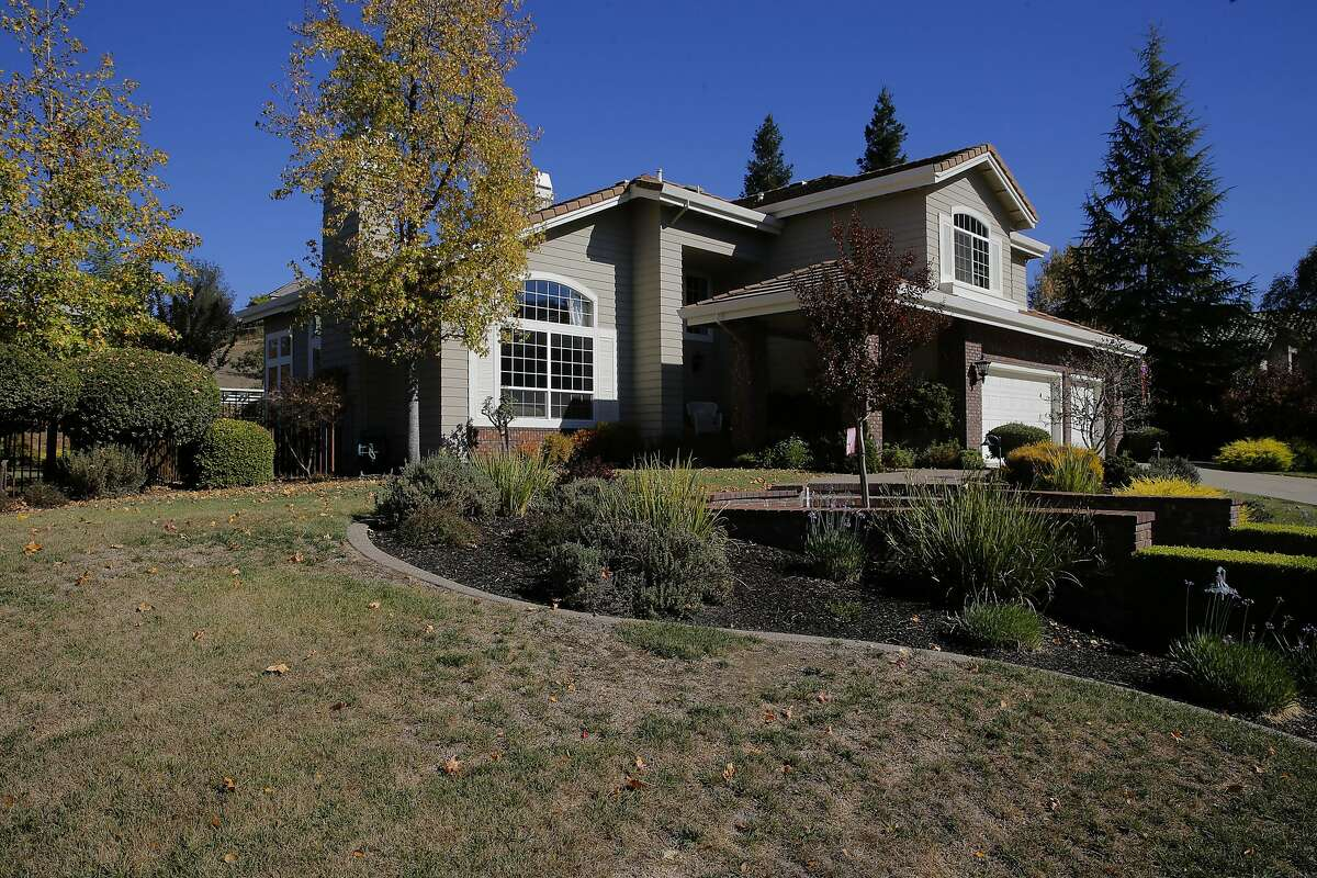 The home of vice Mayor and Councilmember Karla Brown, in the city of Pleasanton, Calif. on Wed. November 4, 2015. The home is on a list of those who have violated the city's excessive water use policy.