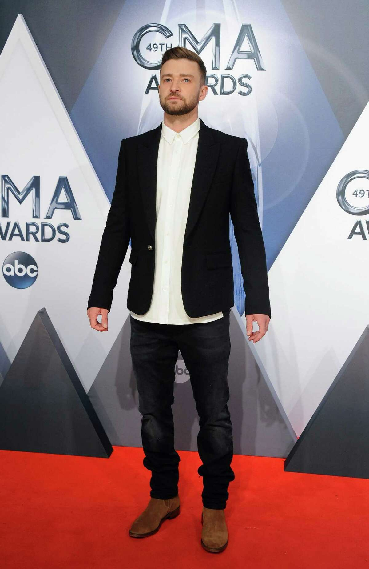 NASHVILLE, TN - NOVEMBER 04: Musician Justin Timberlake attends the 49th annual CMA Awards at the Bridgestone Arena on November 4, 2015 in Nashville, Tennessee. (Photo by Jon Kopaloff/FilmMagic)