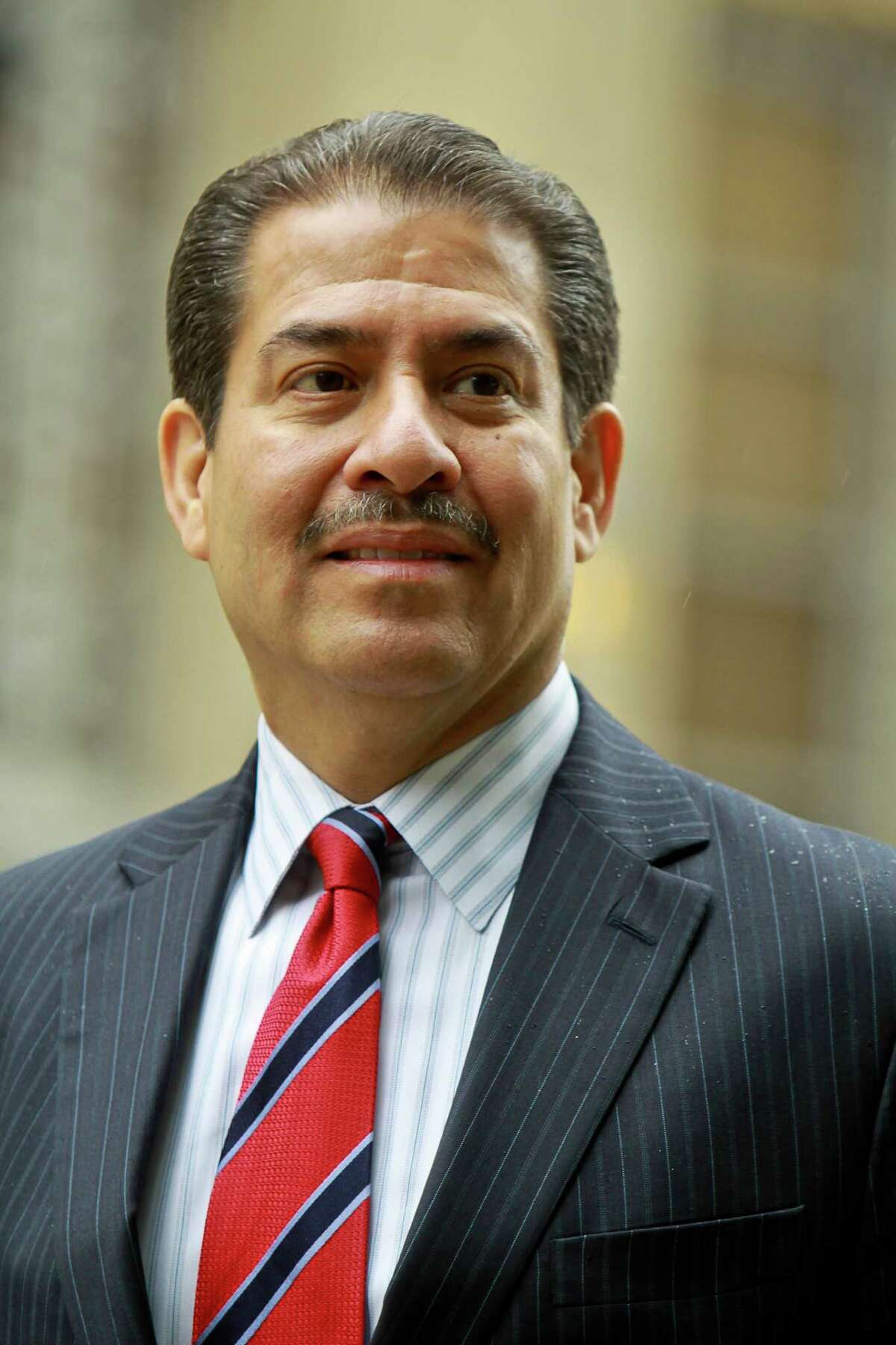 Adrian Garcia, candidate for mayor of Houston at City Hall. (For the Chronicle/Gary Fountain, May 12, 2015)
