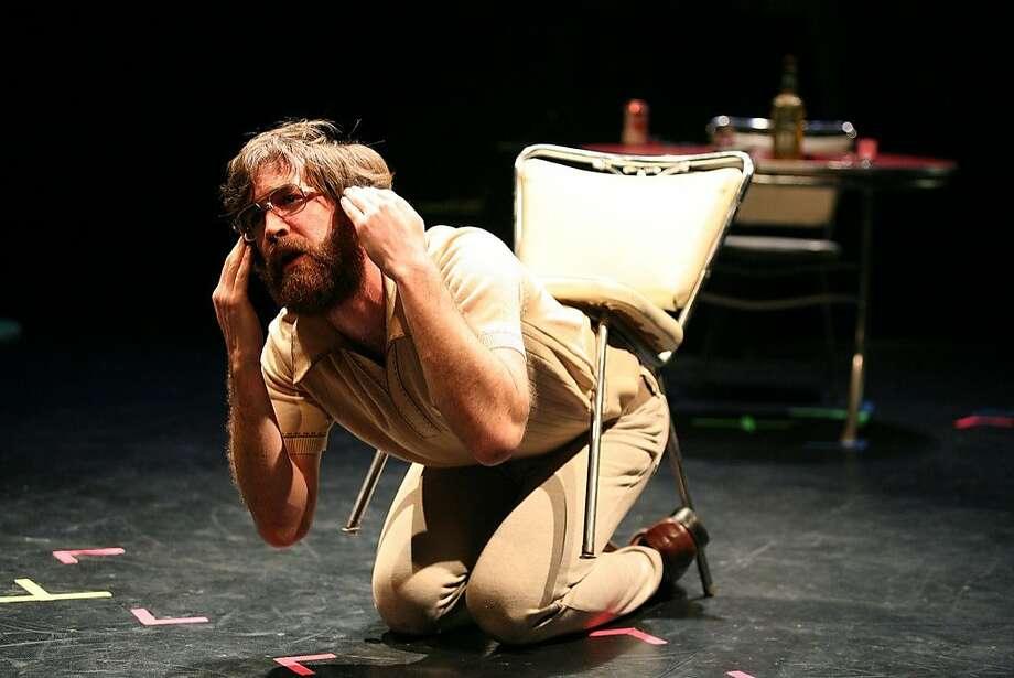 "Thomas Graves in the Texas troupe Rude Mechanicals' ""The Method Gun."" Photo: Alan Simons"