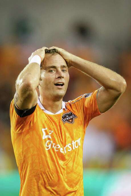 Brad Davis has been with the Dynamo since they took up residence in Houston in 2006 but could be on his way to Sporting Kansas City via a trade during the offseason. Photo: Michael Paulsen, Staff / © 2012 Houston Chronicle