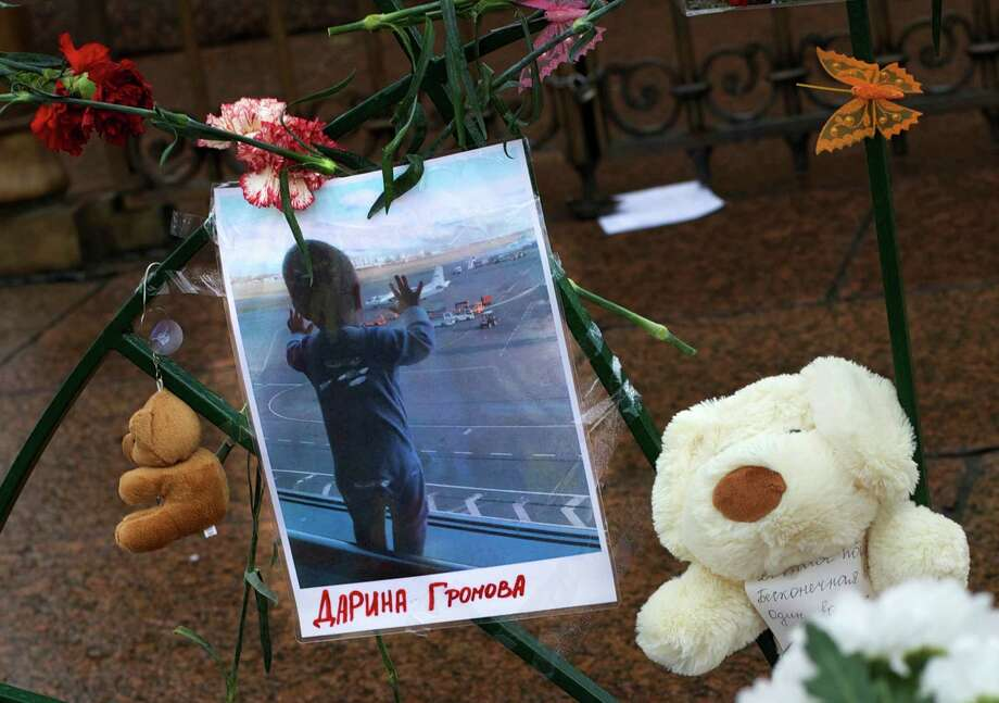 A photo of 10-month-old Darina Gromova is 