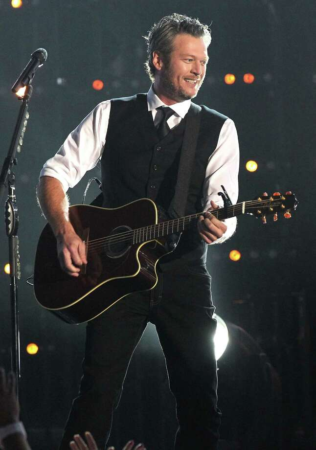 "Country star Blake Shelton announced on Wednesday he will pre-record a concert for an exclusive ""one-night-only"" experience on the screens of select drive-in theaters across the U.S., including one in New Braunfels. The concert will feature guest appearances by his girlfriend Gwen Stefani and fellow country music star Trace Adkins. Photo: Terry Wyatt, Getty Images / 2015 Terry Wyatt"