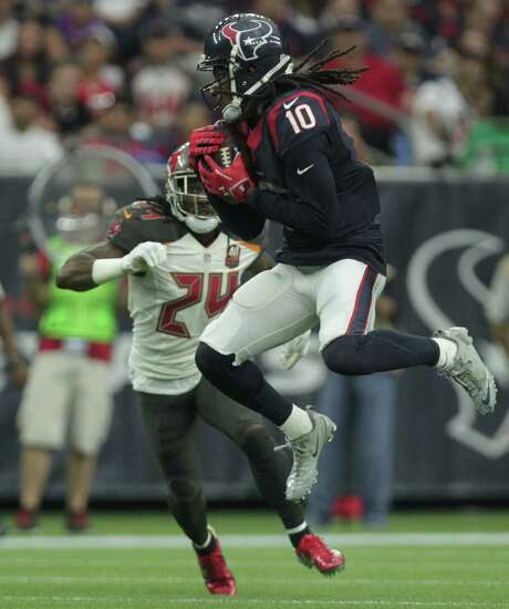 DeAndre Hopkins is playing at a Pro Bowl level in a season in which he would finish with 132 catches if he repeats his first-half performance in the second. Photo: Jon Shapley, Staff / © 2015  Houston Chronicle