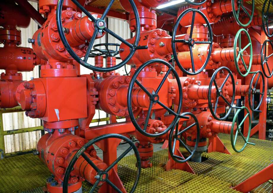 Transocean's Polar Pioneer drillship has this choke manifold - a network of pipes and valves attached to the blowout preventer, an emergency well control device. Transocean's fleet saw less third-quarter business. Photo: Jennifer A. Dlouhy / Houston Chronicle