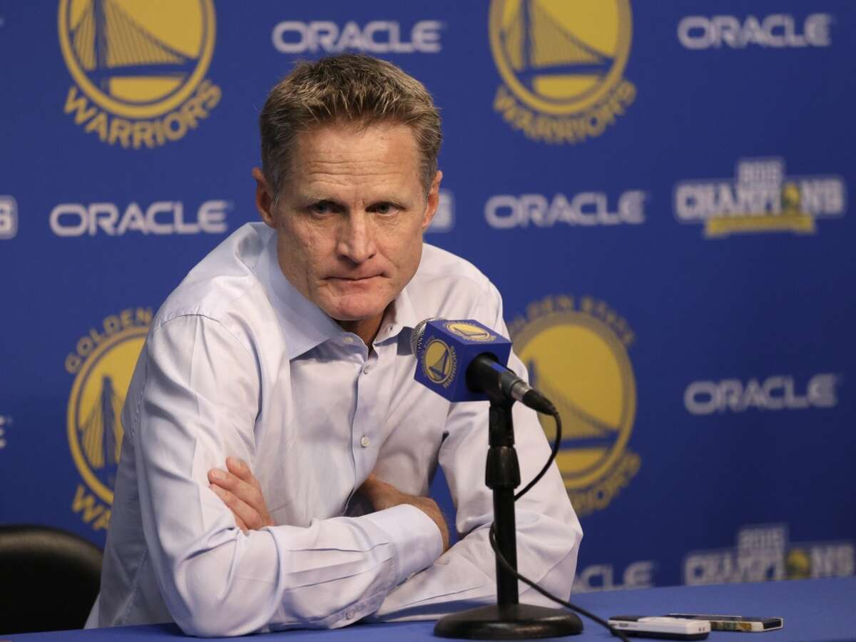 4. If coach Steve Kerr is out for a significant amount time with a back injury, that could be some adversity.