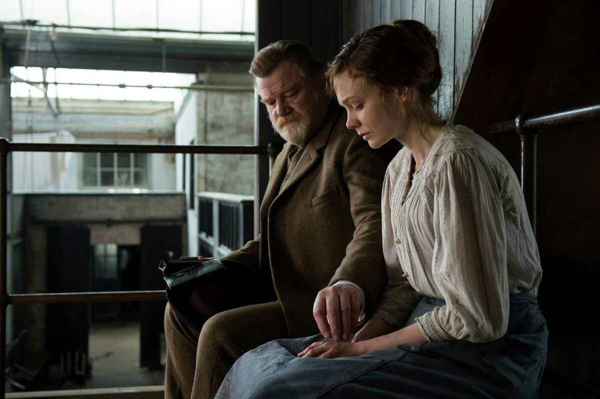 In this image released by Focus Features, Brendan Gleeson portrays Inspector Arthur Steed and Carey Mulligan portrays Maud Watts, right, in a scene from
