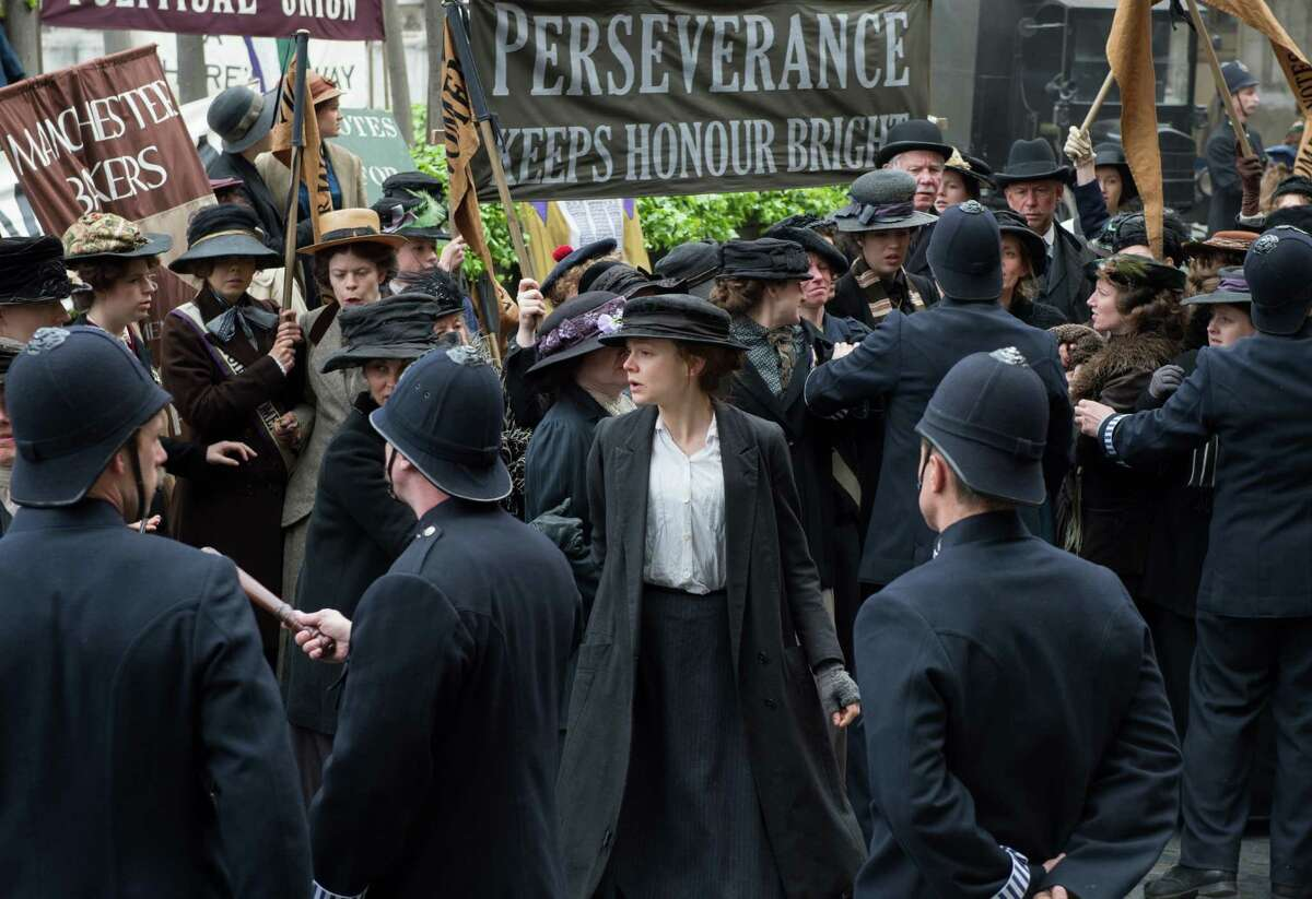 In this image released by Focus Features, Carey Mulligan portrays Maud Watts, center, in a scene from