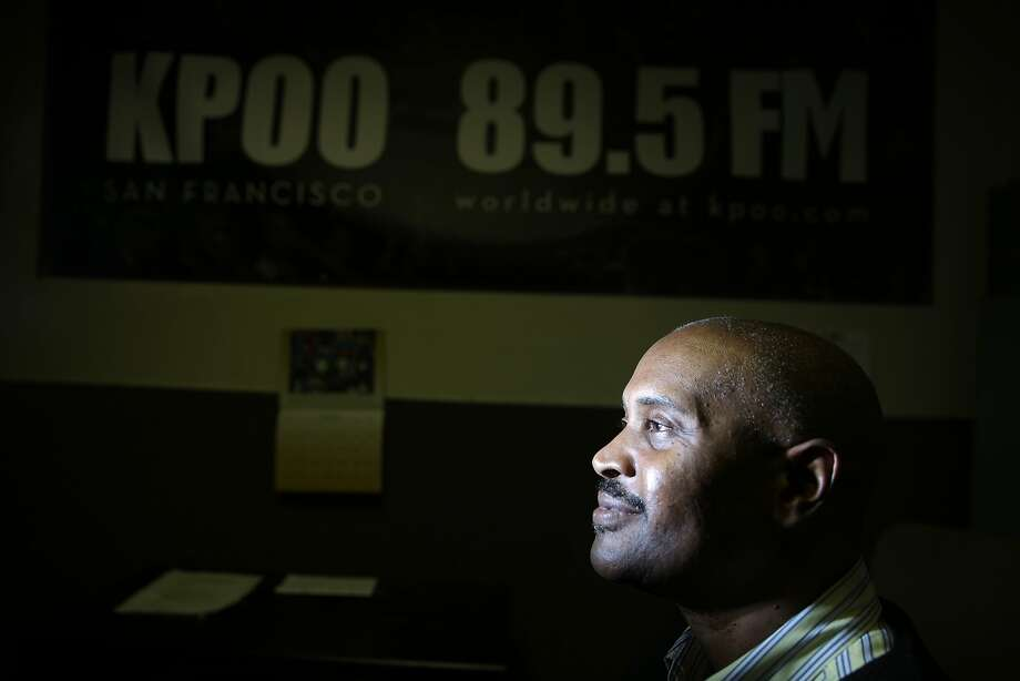 "Jerome ""JJ"" Parson, KPOO general manager, poses for a portrait at KPOO on Wednesday, November 4,  2015 in San Francisco, Calif. Photo: Lea Suzuki, The Chronicle"