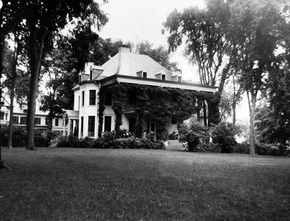 Saratoga Springs house owned by Henry Van Deusen, undated. (Times Union Archive)