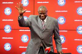 WASHINGTON, DC - NOVEMBER 05:  Dusty Baker is introduced as Manager of the Washington Nationals at Nationals Park on November 5, 2015 in Washington, DC.  (Photo by Greg Fiume/Getty Images)