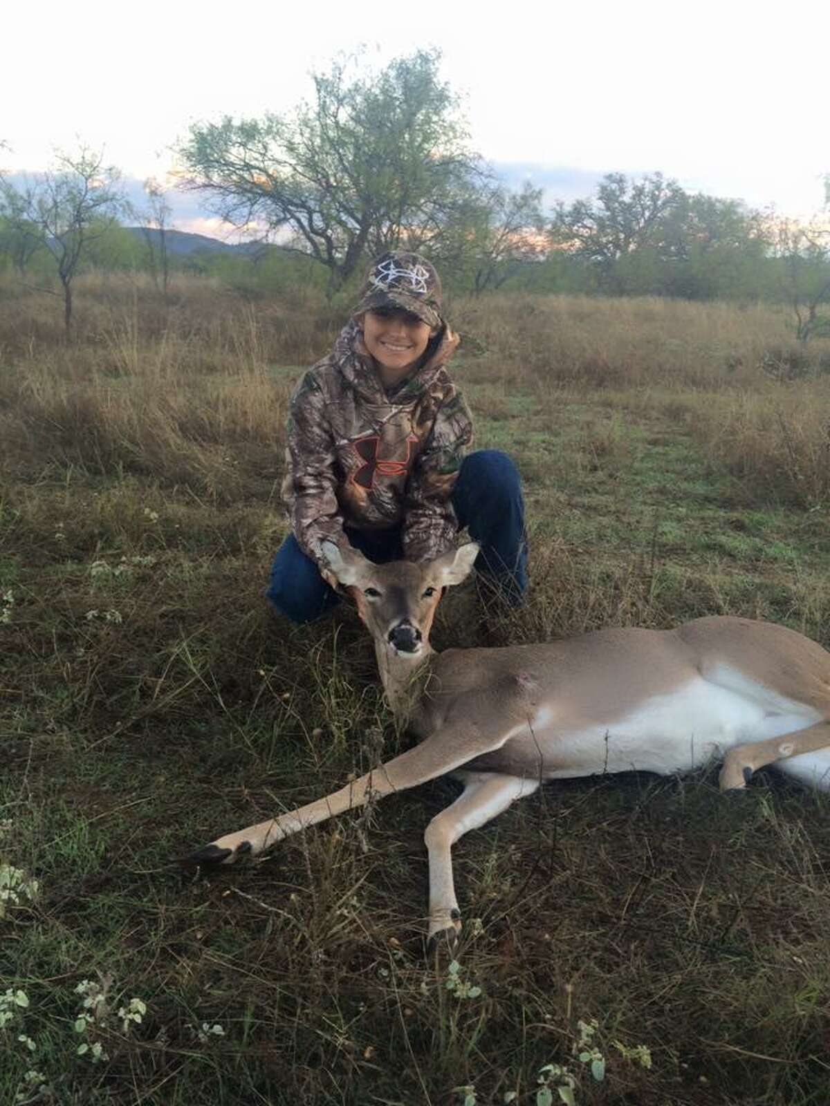 Here are the two doe that our son, Brayden, shot for youth hunt!! We will have enough meat in our freezer to last us a couple of months!!! Photo from: Angie Murphy