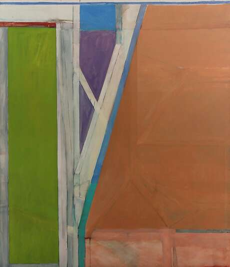 "Richard Diebenkorn, ""Ocean Park #18,"" 1968, oil on canvas, 93½ by 80¾ inches. Private collection. Photo: Berggruen Gallery, Handout"