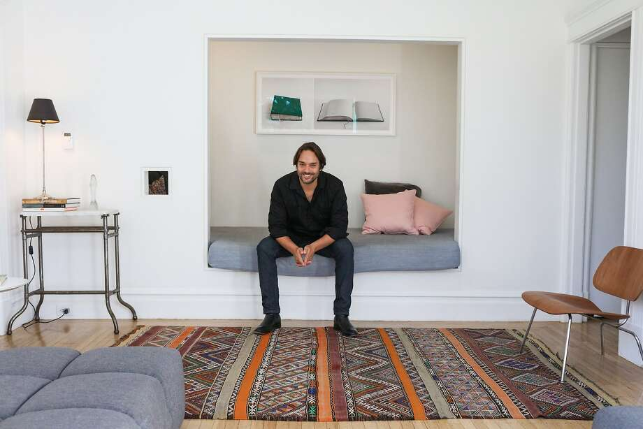 Architect Brett Terpeluk is seen in his living room in his Bernal Heights home in San Francisco, California. Photo: Gabrielle Lurie, Special To The Chronicle