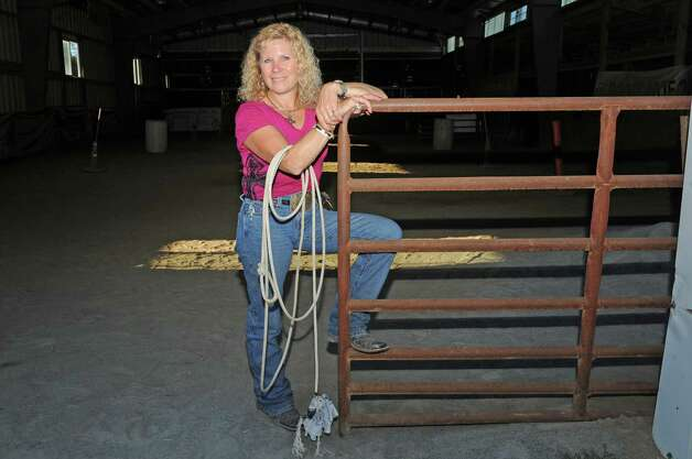 Jennifer Romriell is the rodeo coach for high school students and she is a former rodeo champion rider herself on Wednesday Sept. 23, 2015 in Broadalbin, N.Y.  (Michael P. Farrell/Times Union) Photo: Michael P. Farrell / 00033426A