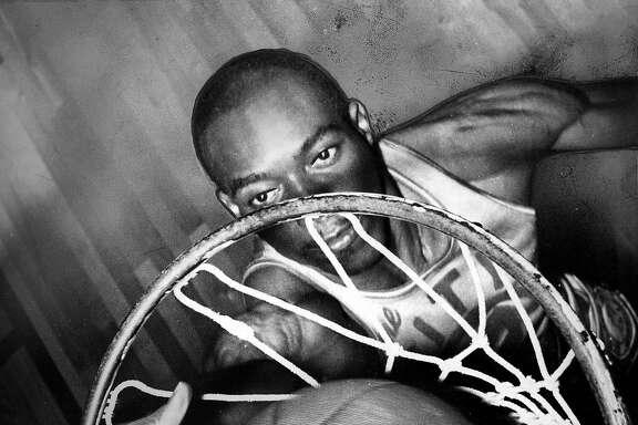 Warriors center Nate Thurmond dunks a basketball Photo shot 03/15/1967 Photo shot 03/16/1967