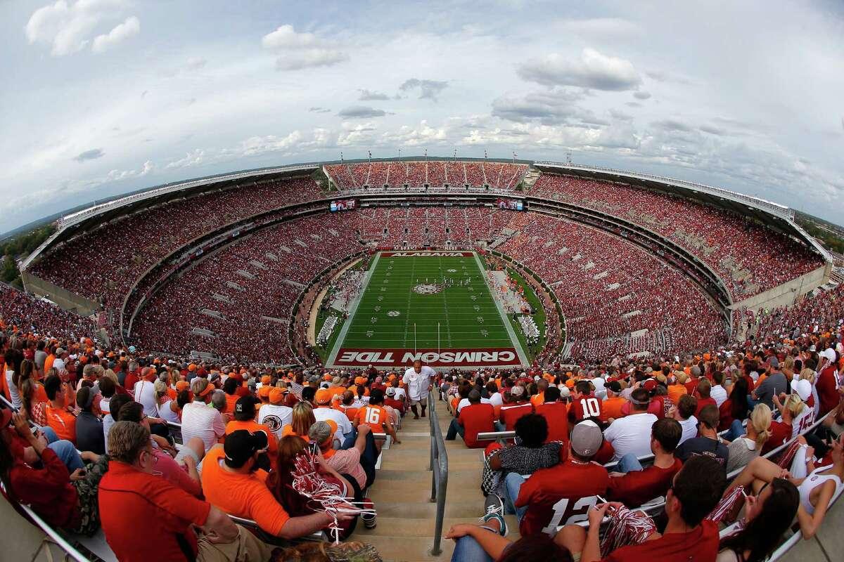 Alabama Bryant-Denny Stadium (University of Alabama) Capacity: 101,821