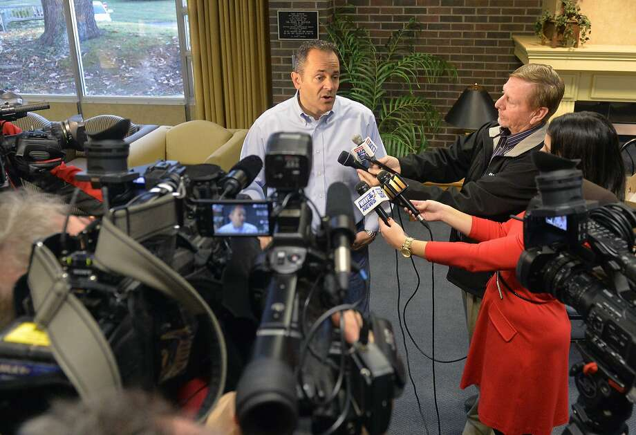 Matt Bevin, center, has said he would dismantle the state insurance marketplace, which would revert to federal operation. Kentucky has been one of the health care law's success stories. Photo: Timothy D. Easley, Associated Press