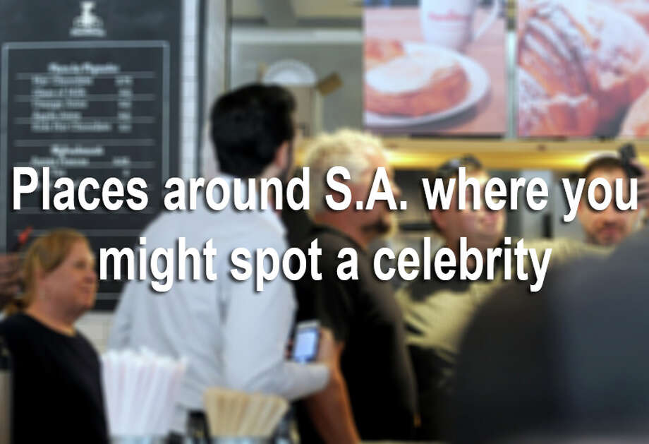From golf courses to coffee shops (and even Bexar County jury duty), there are plenty of places where an average Joe might meet a celebrity.Here are some spots in the San Antonio area that are known for attracting A-listers. Photo: File