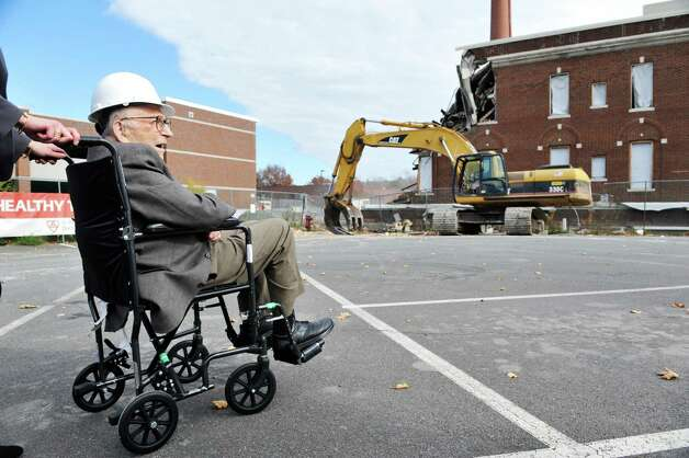Heinrich Medicus looks over the site of the future Heinrich Medicus Pavilion during a ground breaking ceremony for the  St. PeterOs Health Partners Heinrich Medicus Pavilion on the Samaritan Hospital campus on Thursday, Nov. 5, 2015, in Troy, N.Y.  The pavilion is the centerpiece of SPHPOs $99 million Troy Master Facilities Plan.  Medicus donated $10 million to the project.  (Paul Buckowski / Times Union) Photo: PAUL BUCKOWSKI / 00034089A