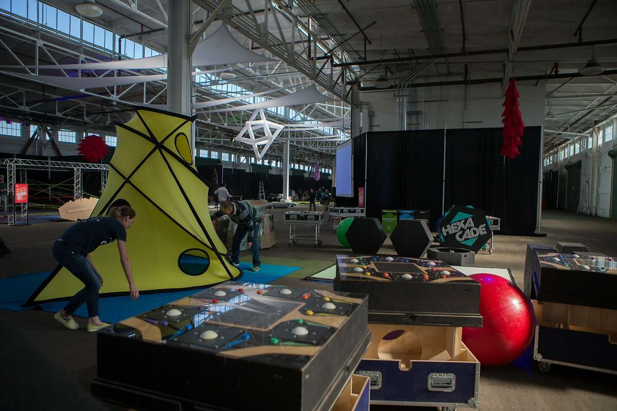 Two Bit Circus converts pier 48 into the STEAM carnival, an amusement park to get kids of all ages interested in math, science and making on Thursday, Nov. 5, 2015 in San Francisco, Calif.