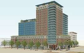 A rendering of the Residences at Berkeley Plaza