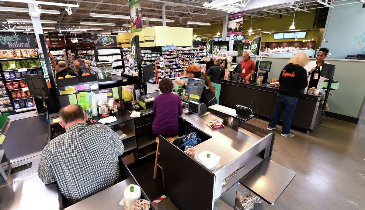 The check-out area of the Honest Weight Co-op Friday afternoon Oct. 16, 2015 in Albany, N.Y. (Skip Dickstein/Times Union)