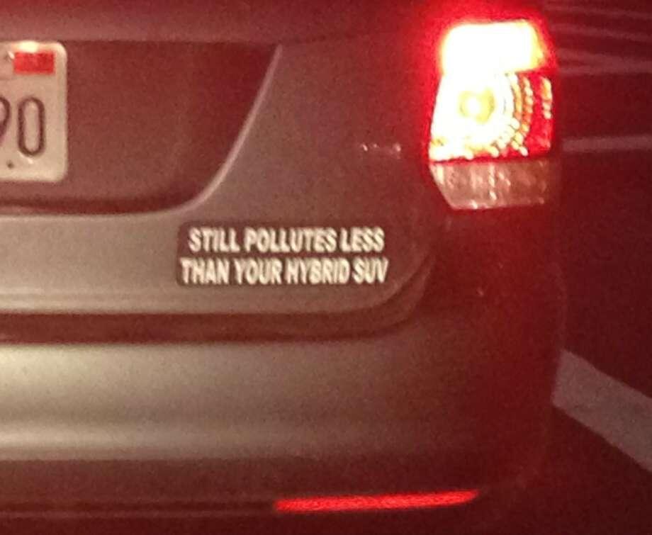 Bumper sticker on VW