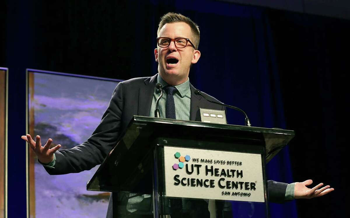 """Jason Gay, author of """"Little Victories: Perfect Rules of Imperfect Living,"""" speaks at The San Antonio Express-News Book & Author Luncheon benefiting The Cancer Therapy & Research Center on Thursday."""