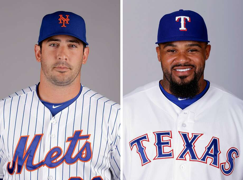 FILE - These are 2015 file photos showing New York Mets pitcher Matt Harvey and Texas Rangers designated hitter Prince Fielder. Mets pitcher Matt Harvey has won the NL Comeback Player of the Year award and Rangers designated hitter Prince Fielder has earned the AL honor. Major League Baseball announced the winners Thursday, Nov. 5, 2015. (AP Photo/File) Photo: Associated Press