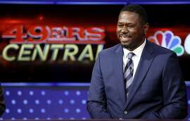 Former 49ers running back Ricky Watters laughs during a CSN broadcast in San Francisco, California, on Wednesday, Nov. 4, 2015.