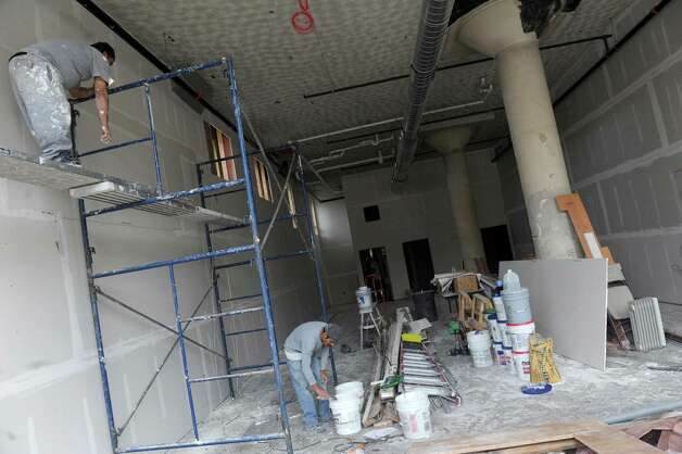 A reatail space being finshed at The Lofts apartments under construction at 733 Broadway on Thursday Nov. 5, 2015 in Albany, N.Y.  (Michael P. Farrell/Times Union) Photo: Michael P. Farrell / 00034107A