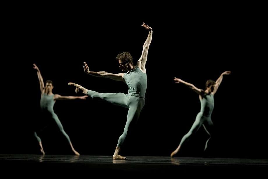 """The San Francisco Ballet's Pascal Molat, seen here in the center performing in the Ballet's production of  Forsythe's """"Artifact Suite,"""" and fellow principal dancer Joan Boada are retiring from the company next season after many productive years.  Photo by Erik Tomasson Photo: Erik Tomasson"""