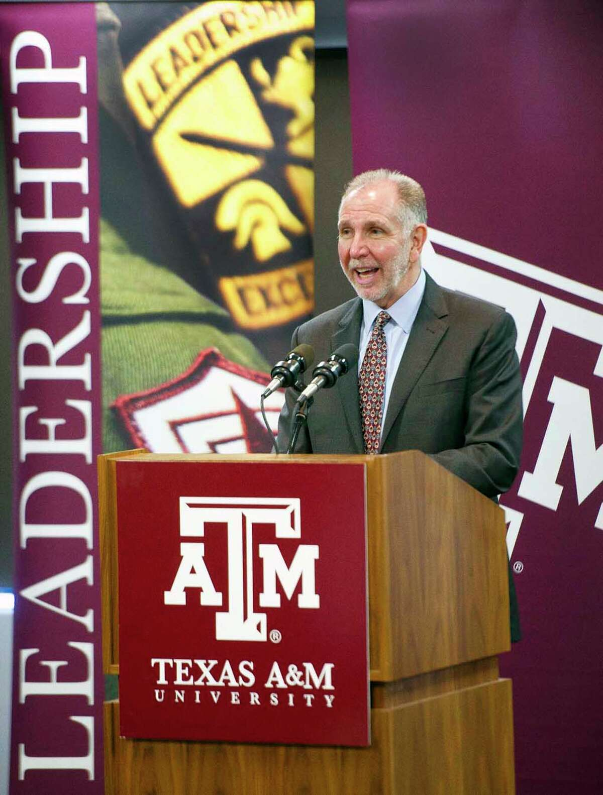 Texas A&M University President Michael Young on Thursday announced the campus aims to raise $4 billion by 2020.
