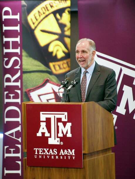 Texas A&M University President Michael Young on Thursday announced the campus aims to raise $4 billion by 2020. Photo: Dave McDermand, MBR / College Station Eagle