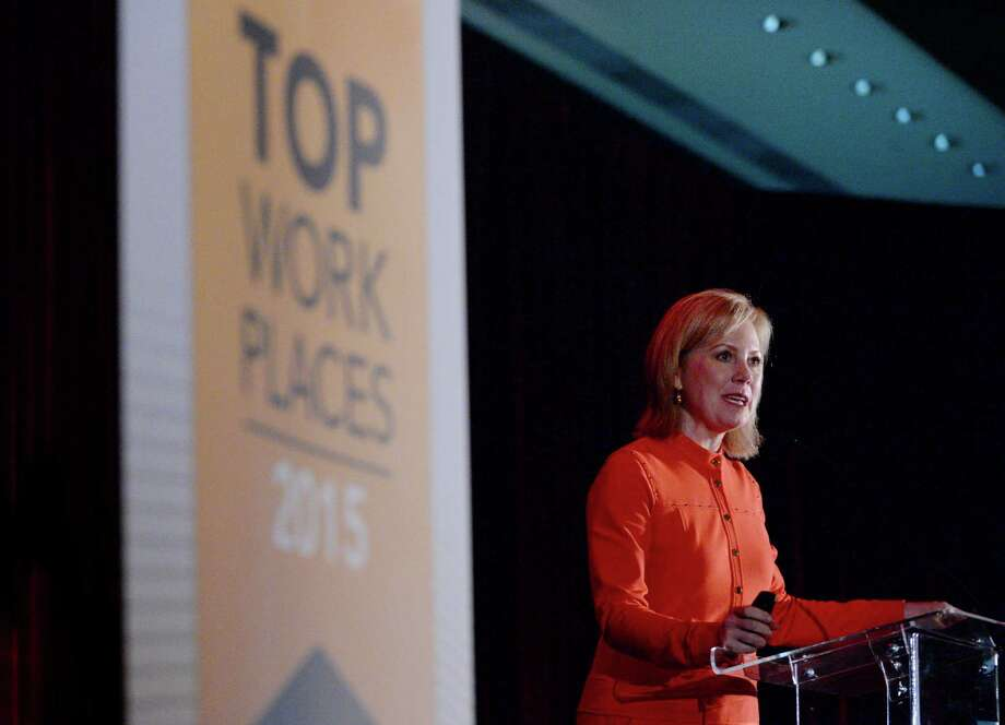 Ginger Hardage, former senior vice president of culture and communication at Southwest Airlines, speaks at the Houston Chronicle's annual Top Workplaces event last November.Take a look back at the 2015 Top Workplaces winners. Photo: Jon Shapley, Staff / © 2015  Houston Chronicle