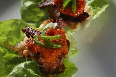 Asian-style beef brisket with recipe by Namu Gaji in San Francisco, Calif., on Wednesday, November 4, 2015.