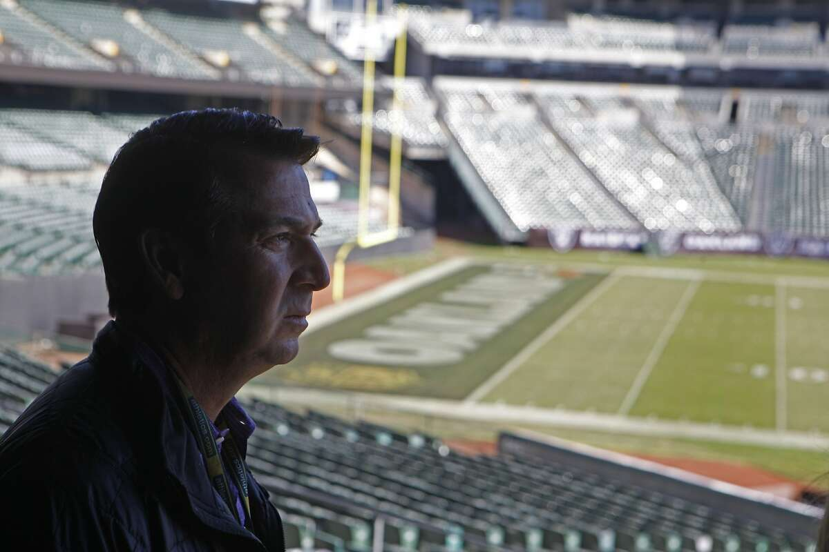 O.co Coliseum Vice President of Operations David Rinetti, talks about and reflects on the stadium's history, the Oakland Raiders, The Oakland Athletics, and the challenges that come with facilitating an older stadium on November 5, 2015.