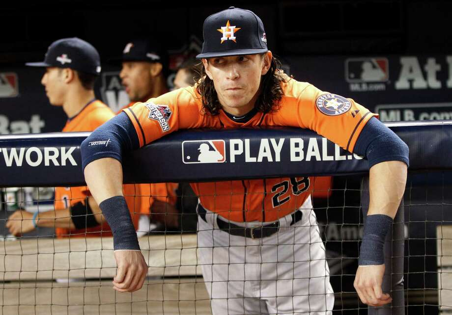 Astros outfielder Colby Rasmus put himself in prime position to hit pay dirt in free agency by hitting a career-high 25 homers in 2015. Photo: Karen Warren, Staff / © 2015 Houston Chronicle
