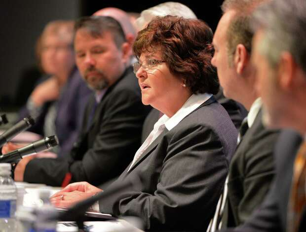 Senator Kathleen Marchione, center, leads panel discussion on abuse of heroin and opioids on April 23, 2014, at Hudson Valley Community College in Troy, N.Y. (Skip Dickstein / Times Union archive) Photo: SKIP DICKSTEIN / 00026541A