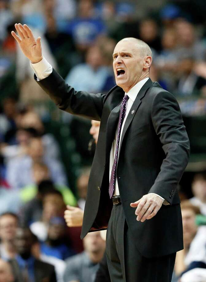 Dallas Mavericks coach Rick Carlisle instructs his team on defense during the first half of an NBA basketball game against the Charlotte Hornets on Thursday, Nov. 5, 2015, in Dallas. (AP Photo/Tony Gutierrez) Photo: Tony Gutierrez, STF / AP