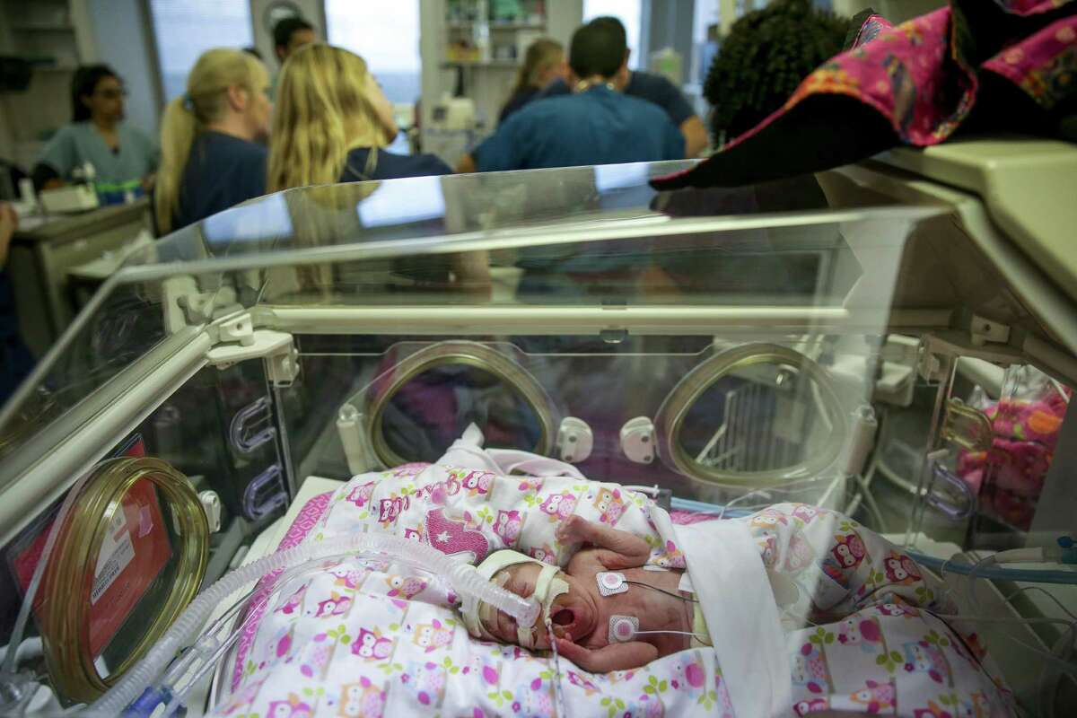premature babies at the Neonatal Intensive Care Unit at Children's Memorial Herman Hospital Thursday, Nov. 5, 2015, in Houston.