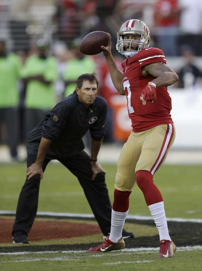 First, the five reasons Gabbert won't succeed... 5. Under quarterbacks coach Steve Logan and offensive coordinator Geep Chryst, Colin Kaepernick clearly regressed. Can those two mold Blaine Gabbert into a legitimate NFL starter? Photo: Ben Margot, Associated Press