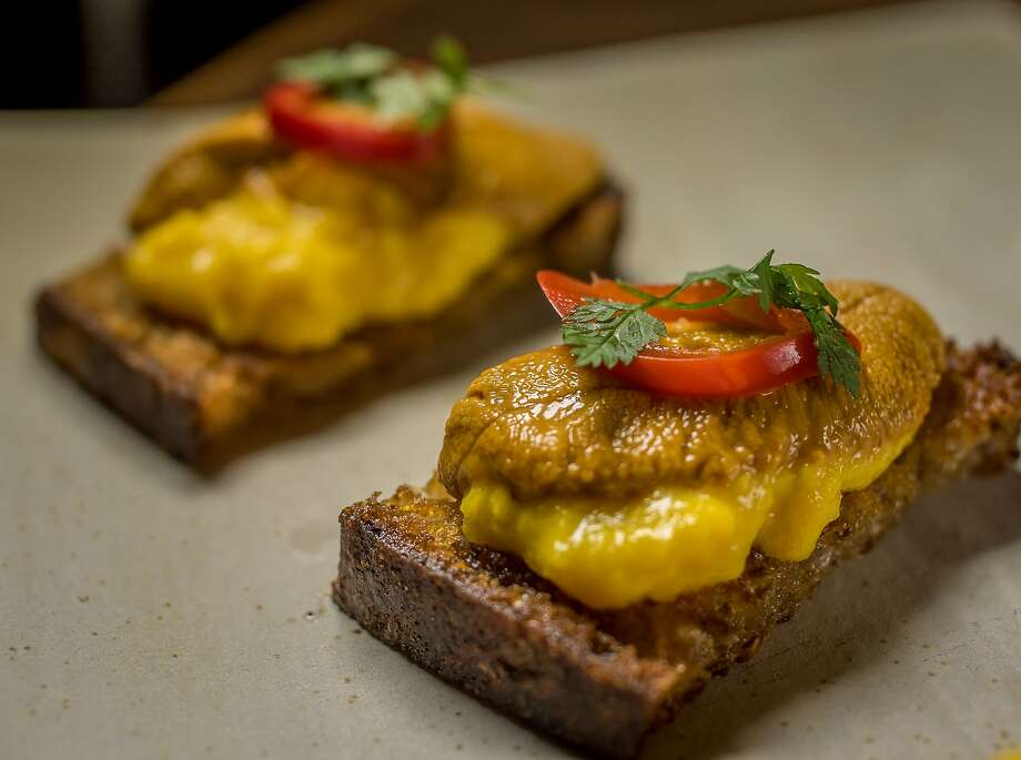Sea Urchin with Scrambled Egg at Oro in San Francisco. Photo: John Storey, Special To The Chronicle