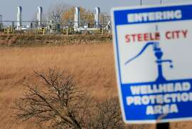 The Keystone Steele City pumping station, into which the planned Keystone XL pipeline is to connect to, is seen in Steele City, Neb., Tuesday, Nov. 3, 2015. TransCanada, the company behind the project, said Monday it had asked the State Department to suspend its review of the Canada-to-Texas pipeline, citing uncertainties about the route it would take through Nebraska. (AP Photo/Nati Harnik)