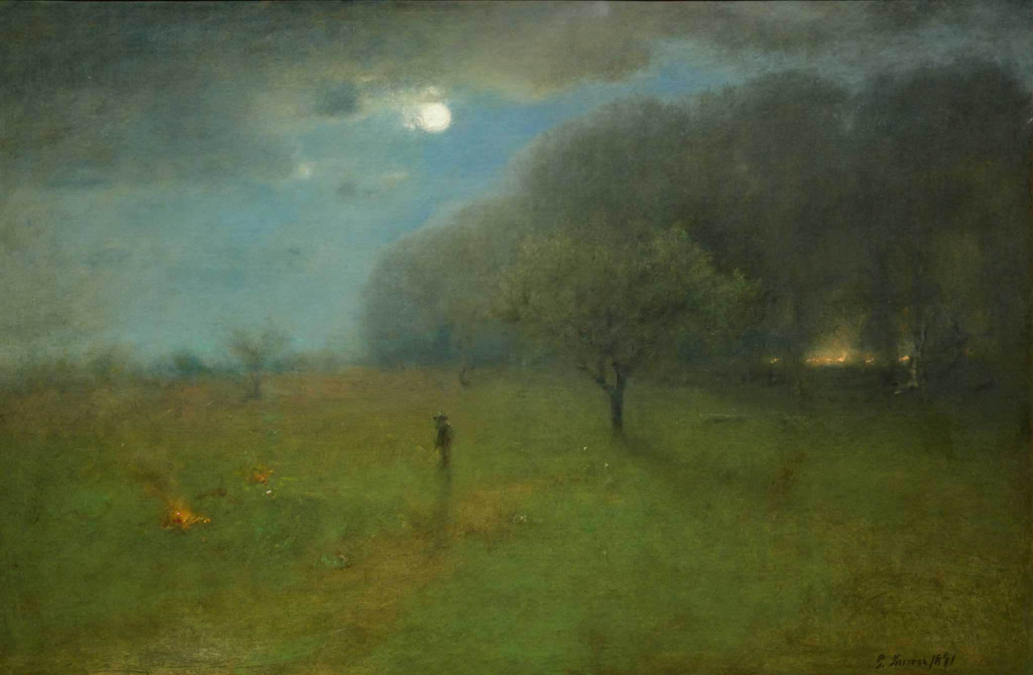 george inness early moonrise - HD 1280×836