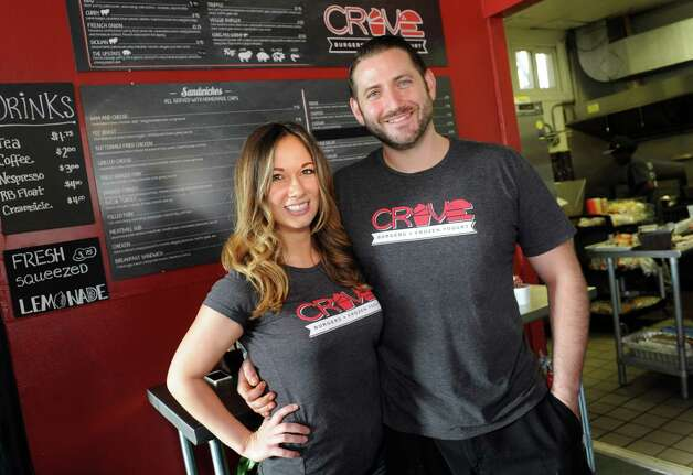 Co-owners Kaytrin Della Sala, left, and Devin Ziemann on Friday, Oct. 30, 2015, at Crave in Albany, N.Y. (Cindy Schultz / Times Union) Photo: Cindy Schultz / 00034005A
