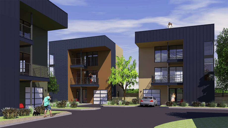 The Sunglo Urban Homes will be located at 1519 S. Presa St. The $2.4 million, 10-unit townhome development is scheduled to begin construction in the coming weeks, and be complete by December 2016. Photo: Illustration Courtesy Of Varga Endeavors LLC
