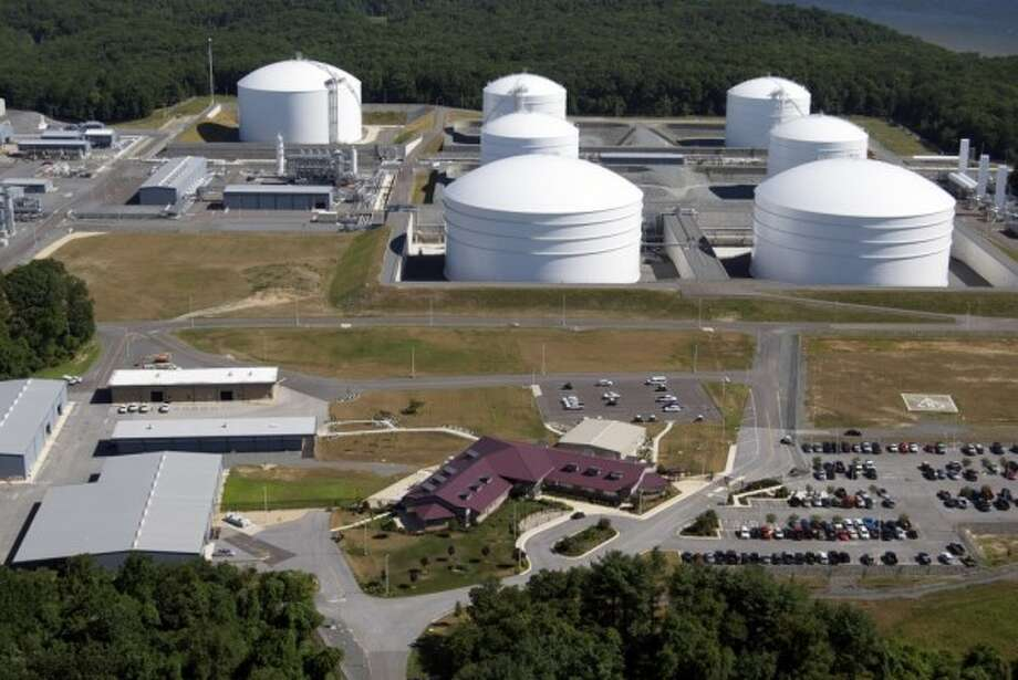 Natural gas in storage.