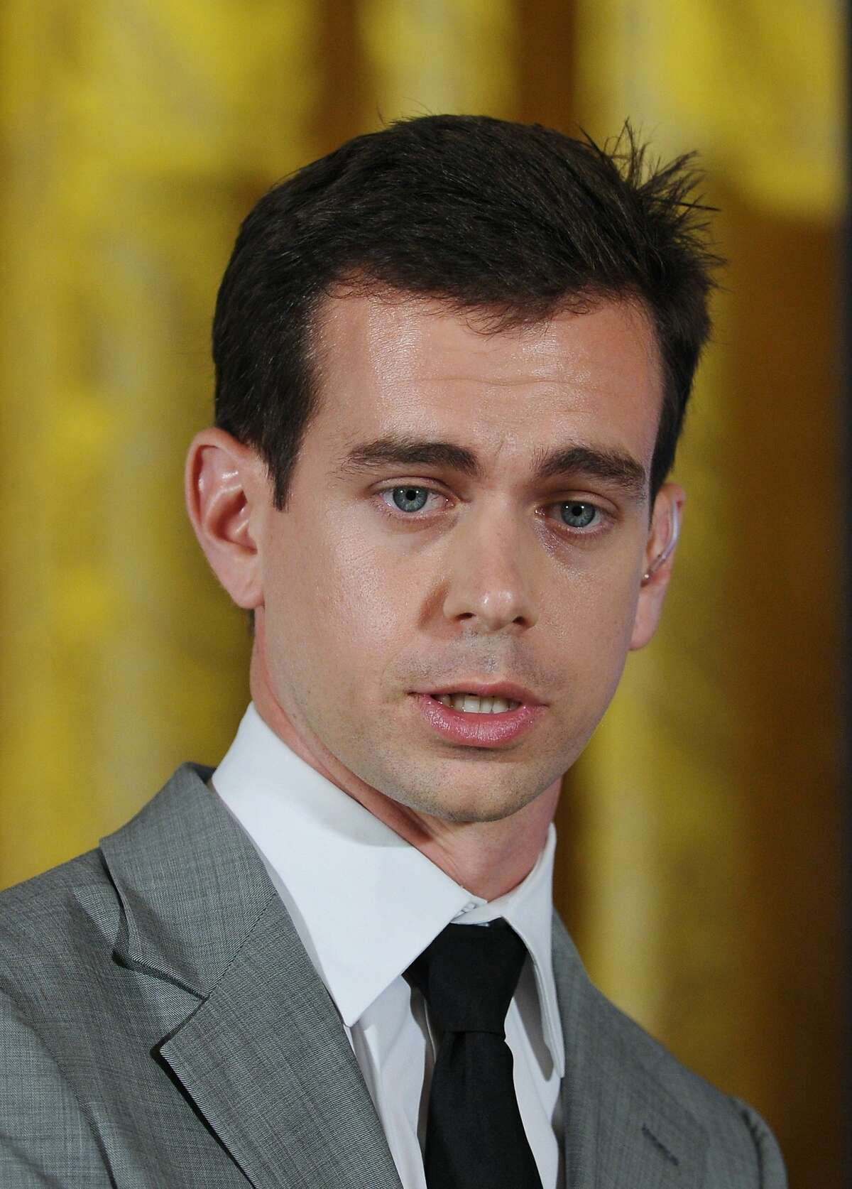 This July 6, 2011 file photo shows Twitter co-founder and Executive Chairman Jack Dorsey as he speaks during US President Barack Obama's Twitter Town Hall at the White House in Washington, DC. Mobile payments startup Square said November 6, 2015 it will raise up to $403 million in its stock offering -- but it may be valued less on Wall Street than by private investors. The company founded by Twitter's Jack Dorsey -- who is chief executive of both firms -- said in an updated regulatory filing it would sell 27 million shares in a range of $11 to $13, with an option to sell an additional four million shares depending on demand.